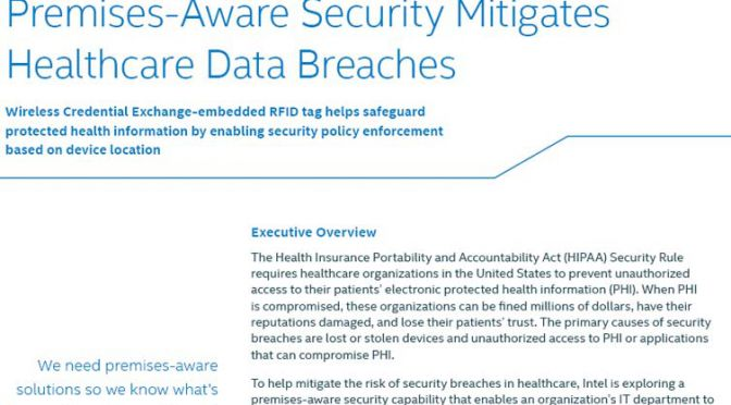 Intel, Premise Aware Services and Security