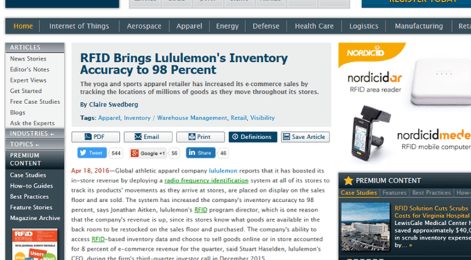 LULULEMON Increased e-commerce sales by improving inventory accuracy to 98%