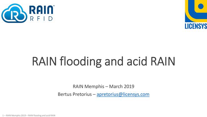 RAIN Flooding and Acid RAIN
